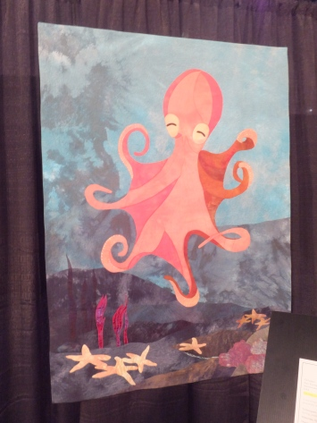 Octopus quilt on exhibit