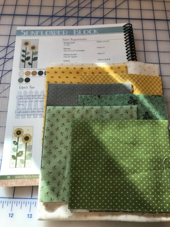 Fabric for Sunflower block