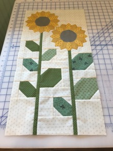 Sunflower block finished!