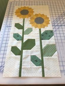 Sunflower block finished!
