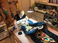 Clara machine quilting