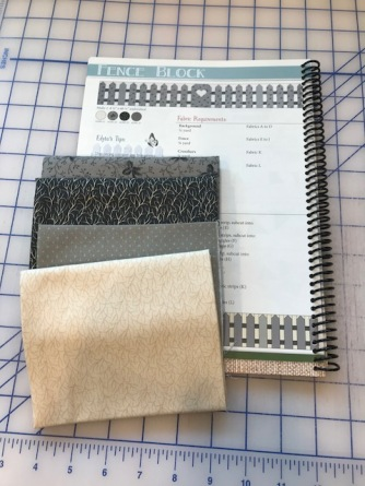 Fabric and instructions for fence