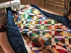 Machine quilting Fr quilt