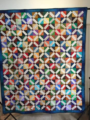 Quilt displayed at Fr Borski Mass