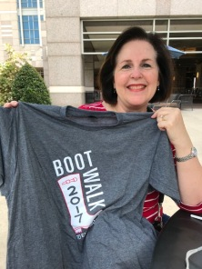 Dixie with 2017 Boot Walk t-shirt