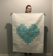 Kate and her baby quilt