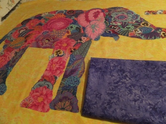 Purple batik for back of quilt