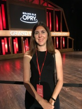 Katie on stage of grand ole opry