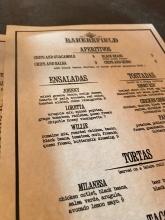 Bakersfield menu