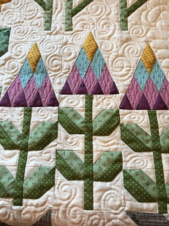 cornflower block quilting