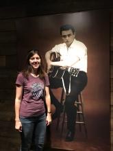 Katie hangin with Johnny Cash