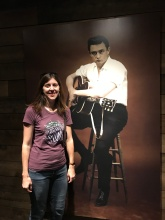 Katie hangin with Johnny Cash
