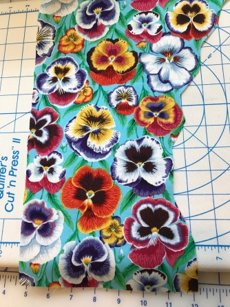 pansy fabric for face