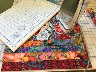 Ironing fabric to fuse