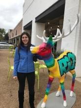 Katie and Reindeer in Houston