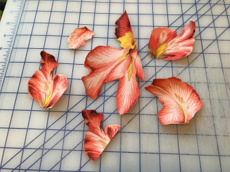 Orchid Kaffe fused fabric